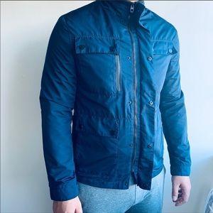 Zara Man Navy lightweight jacket, M/L